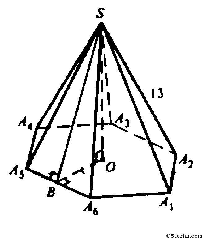 сторона основания пирамиды