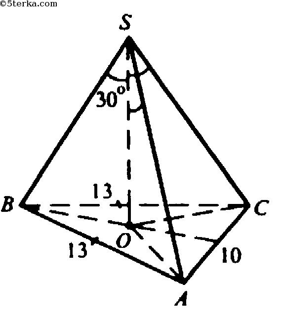боковое ребро правильной пирамиды равно 13