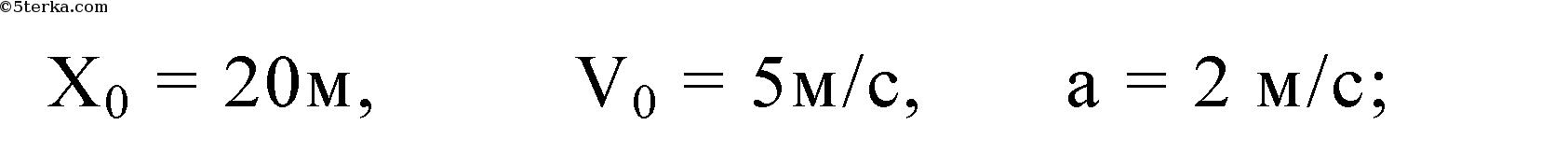 уравнение движения материальной точки имеет вид х