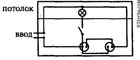 Начертите схему проводки