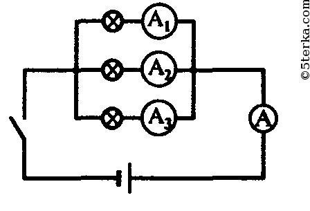 Начертите схему цепи