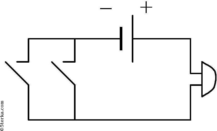 например, следующую схему: