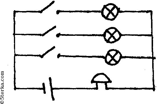 вольчтметр звонок амперметр ключ источник тока схема