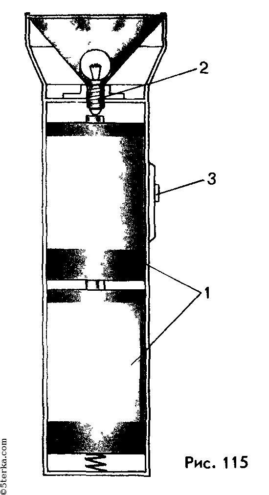 Принципиальная схема карманного фонаря 104