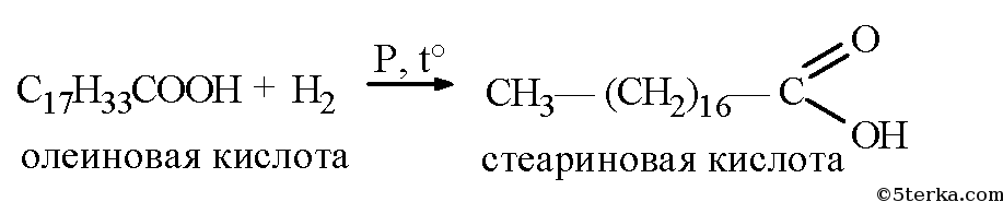 олеиновой кислоты.