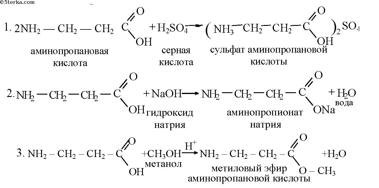 аминопропионовой кислоты с