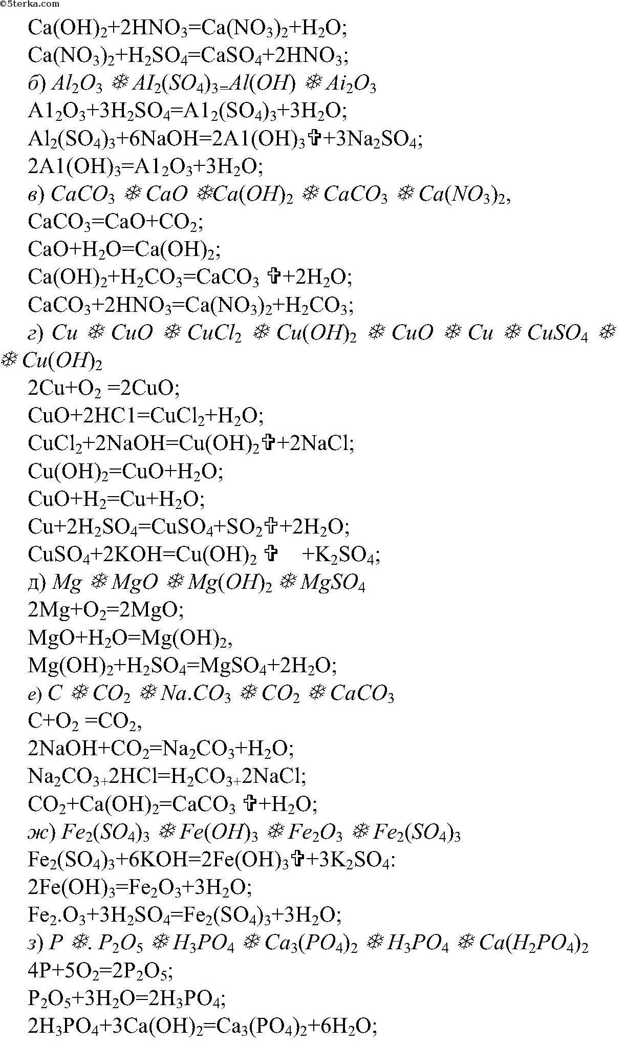 Составьте уравнения химических реакций схемы которых даны ниже