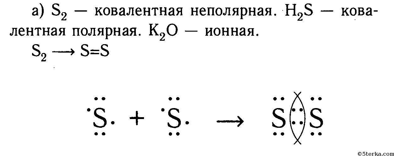 Схема ковалентной полярной h2s