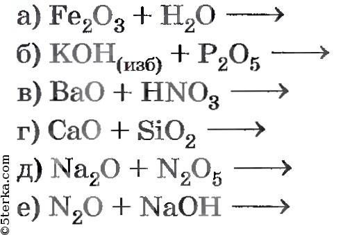химические реакции онлайн решение