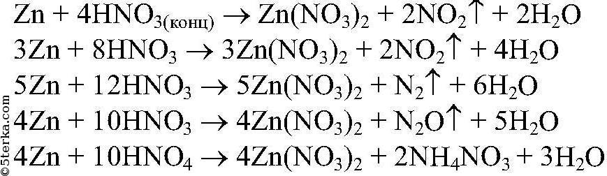 Ответ: 1) Реакции с металлами