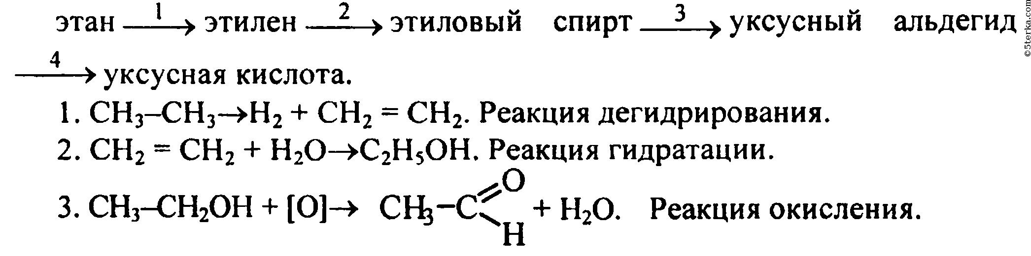 Как получить из этаналя этанол