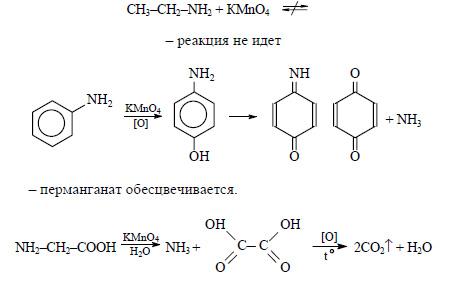 кислотой; в)с этанолом.